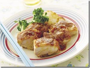 鶏もも肉のみそバター照り焼き