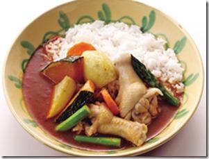 揚げ野菜と鶏肉のスープカレー