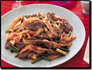 キムチとカルビのスタミナ炒め