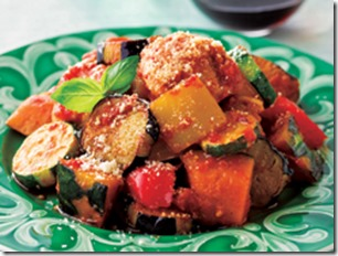 鶏と夏野菜の黒酢カポナータ
