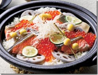 土鍋で鮭の親子飯