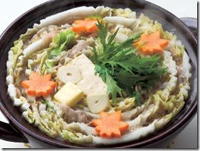 にんにくバターの豚バラ白菜鍋