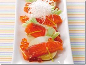 かぶとサーモンの紅白サラダ