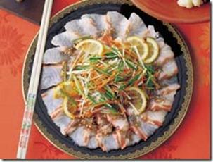 鯛の中華カルパッチョ