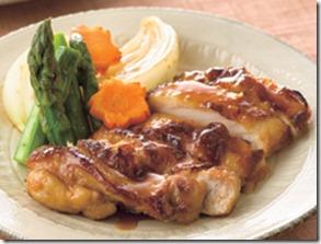 鶏と春野菜の照り焼き